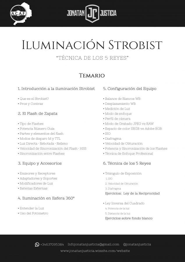 Temario Curso 2018 strobist