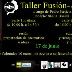 taller Fusion-arte con Pedro J Justicia en ACAF Santa Coloma